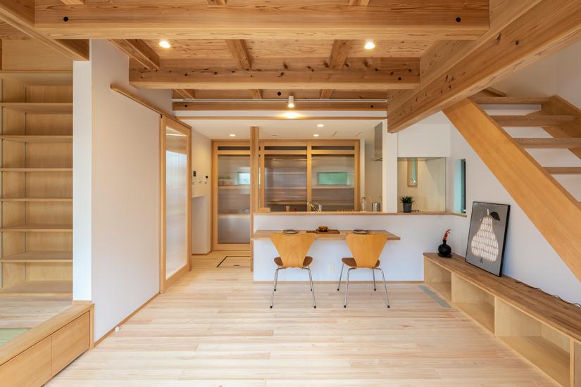 正方の家 施工事例 西東京市 キッチンカウンター