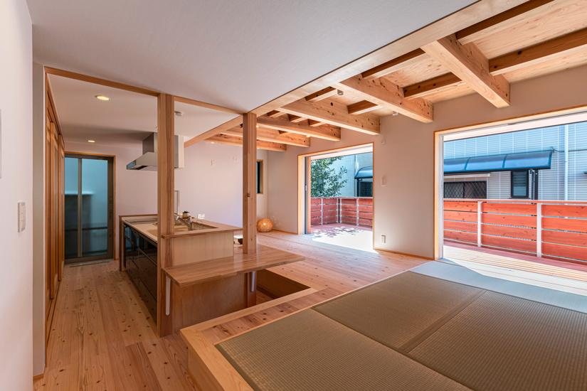 小上がりの家 施工事例 岡庭建設5