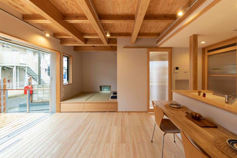 正方の家 施工事例 西東京市 和室 小上がり畳